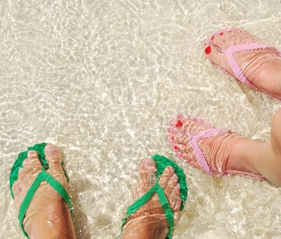 pielęgnacja stóp-może i plaża
